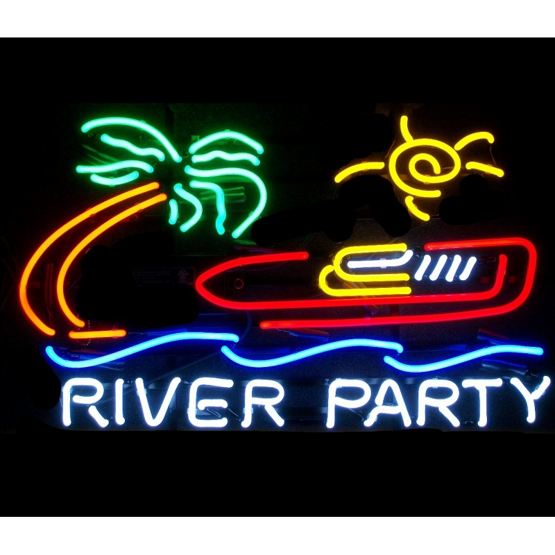 River Party Neon Bar Sign