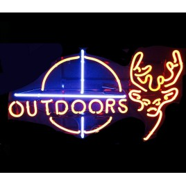 Deer Outdoors Neon Bar Sign