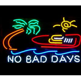 No Bad Days Boat Neon Bar Sign