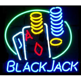 Black Jack Neon Bar Sign