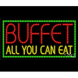 Buffet-All You Can Eat LED Sign