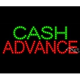 Cash Advance Led Sign