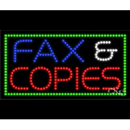 Fax And Copies Led Sign