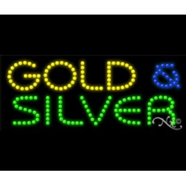 Gold And Silver Led Sign