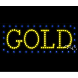 Gold Led Sign