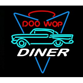Doo Wop Diner Neon Bar Sign