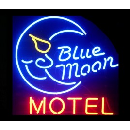 Blue Moon Motel Neon Bar Sign