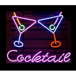 Cocktail Martinis Neon Bar Sign