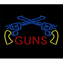 Guns Neon Bar Sign