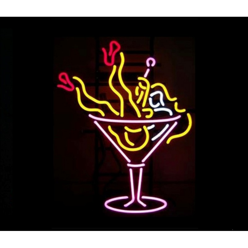 Martini Girl Neon Bar Sign