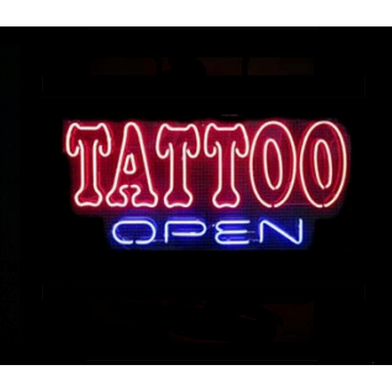 Tattoo Open Neon Bar Sign