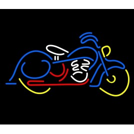 Motorcycle Yellow Neon Bar Sign