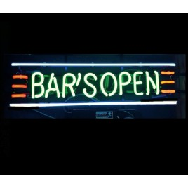 Bar's Open Neon Bar Sign