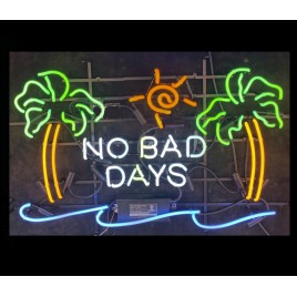 No Bad Days Neon Bar Sign