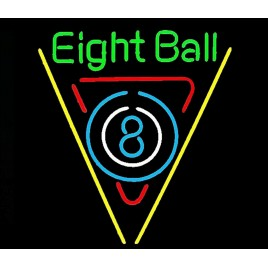 Eight Ball Neon Bar Sign