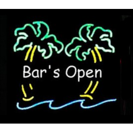 Bars Open Neon Bar Sign