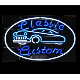 Classic Custom Car Neon Bar Sign