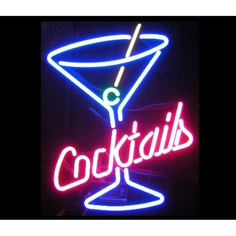 Cocktail Martini Neon Bar Sign