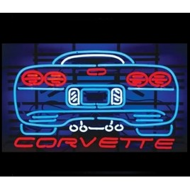 Corvette Rear Neon Bar Sign