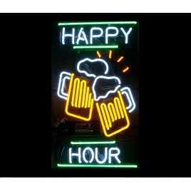 Happy Hour Neon Bar Sign