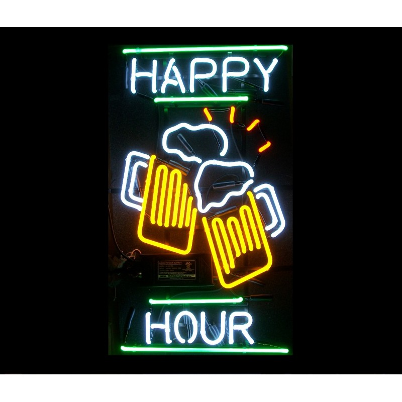Happy Hour Neon Sign