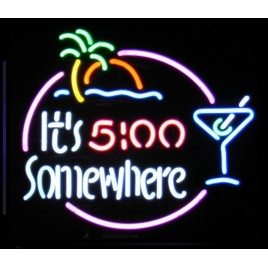 Its 5:00 Somewhere Neon Bar Sign