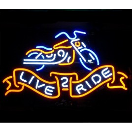 Live 2 Ride Neon Bar Sign II