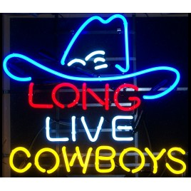 Long Live Cowboys Neon Bar Sign