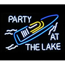 Party At The Lake II Neon Bar Sign