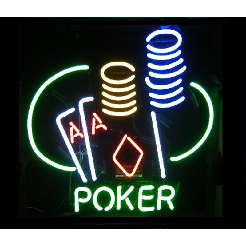 Poker Neon Bar Sign