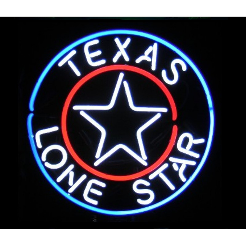 Texas Lone Star Neon Bar Sign