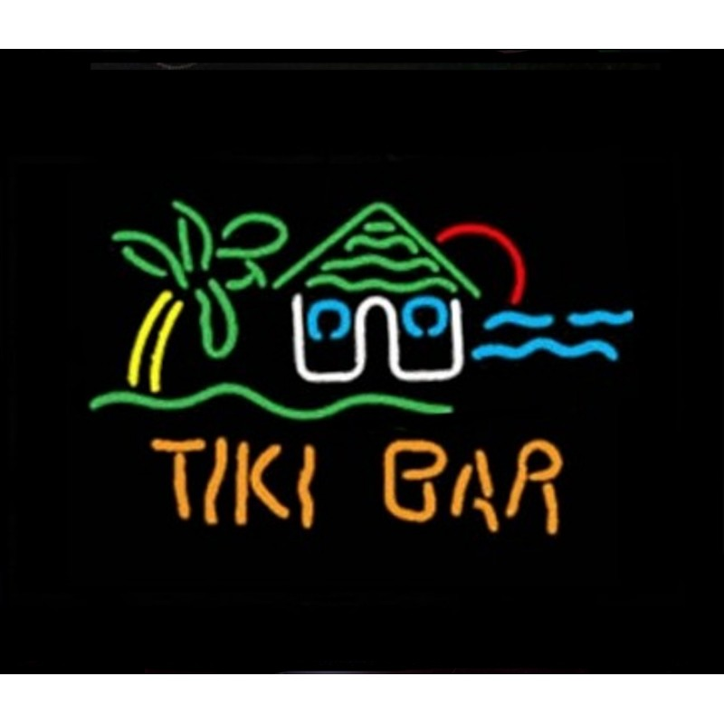Tiki Bar Hut Neon Bar Sign