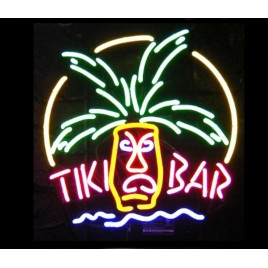 Tiki Bar Mask Neon Bar Sign