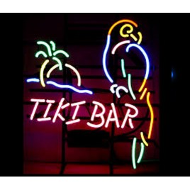 Tiki Bar Parrot Neon Bar Sign