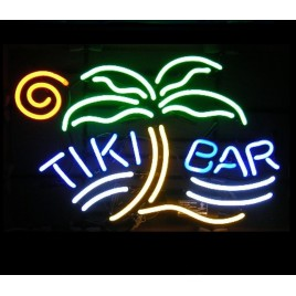 Tiki Bar Palm Neon Bar Sign