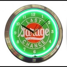 Neon Wall Clock Last Chance Garage