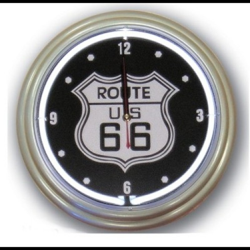 Neon Wall Clock RT 66