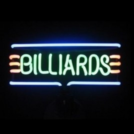 Billiards Stripe Neon Sculpture