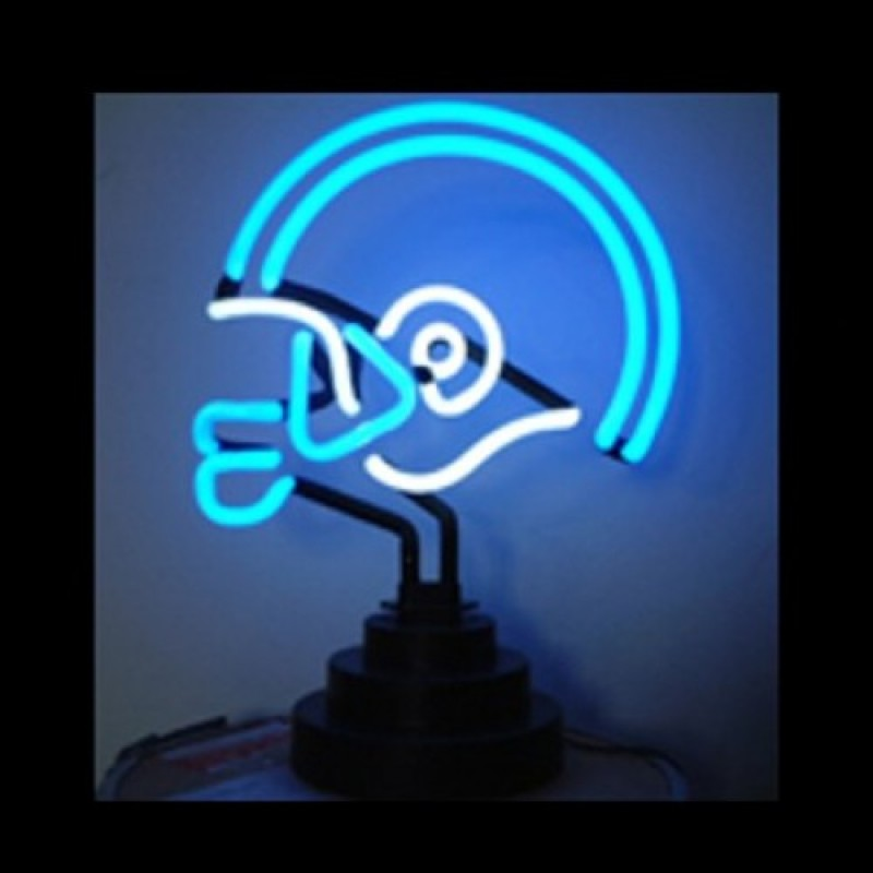 Helmet Neon Sculpture