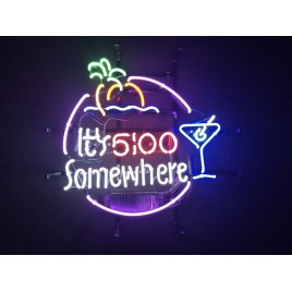 5:00 Somewhere Neon Bar Sign