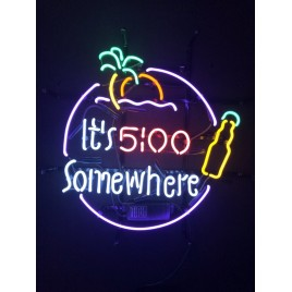 5:00 Somewhere Beer Neon Bar Sign