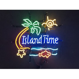 Island Time Neon Bar Sign