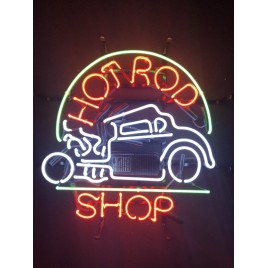 Hot Rod Shop Neon Bar Sign