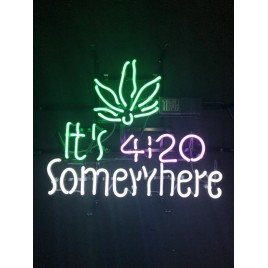 It's 4:20 Somewhere Neon Bar Sign